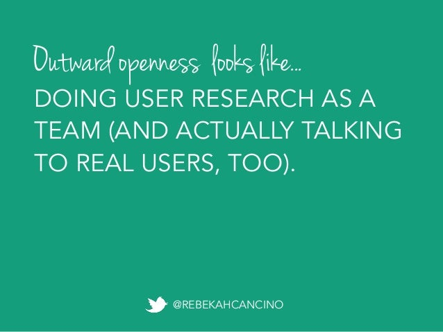 Personal openness Active openness Outward openness Exponential openness