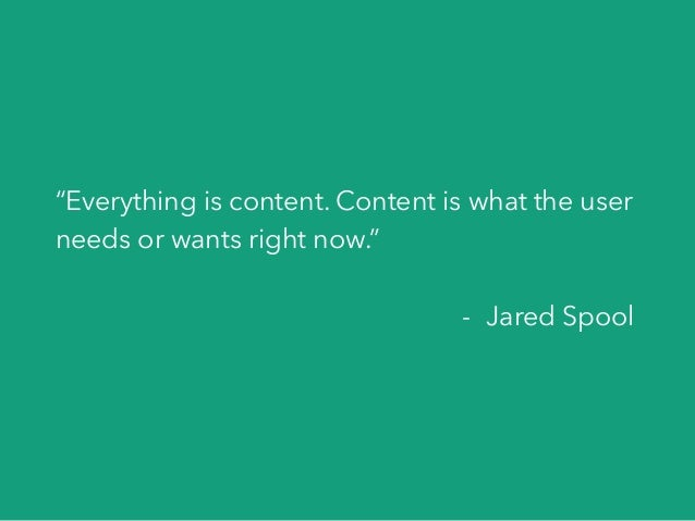 Content is at the heart of everything we design