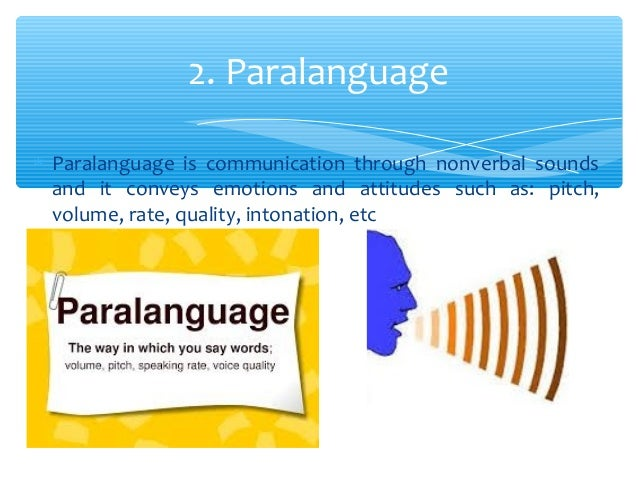 types of paralinguistic communications What is paralinguistic paralinguistic is a feature to speak non verbally(ie words are not used) in this our quality of voice is seen types of paralinguis.