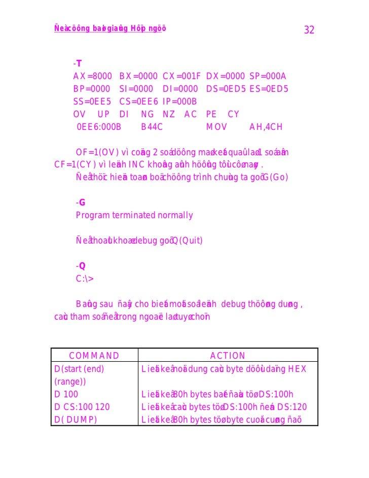 Ñeà cöông baø i giaû n g Hôï p ngöõ                                    32         -T       AX=8000 BX=0000 CX=001F        ...