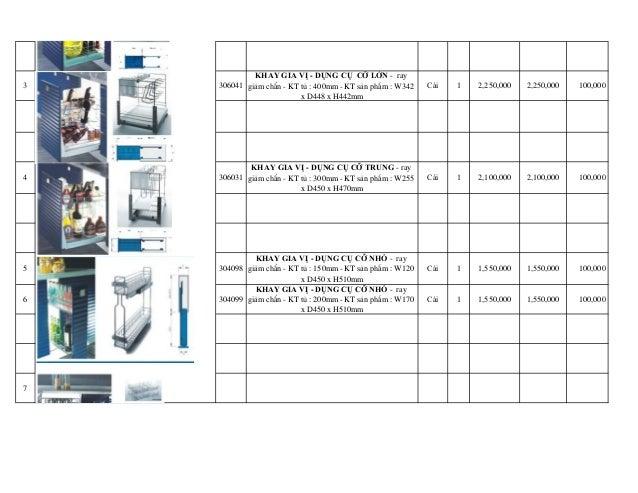 3 306041 KHAY GIA VỊ - DỤNG CỤ CỠ LỚN - ray giảm chấn - KT tủ : 400mm - KT sản phẩm : W342 x D448 x H442mm Cái 1 2,...
