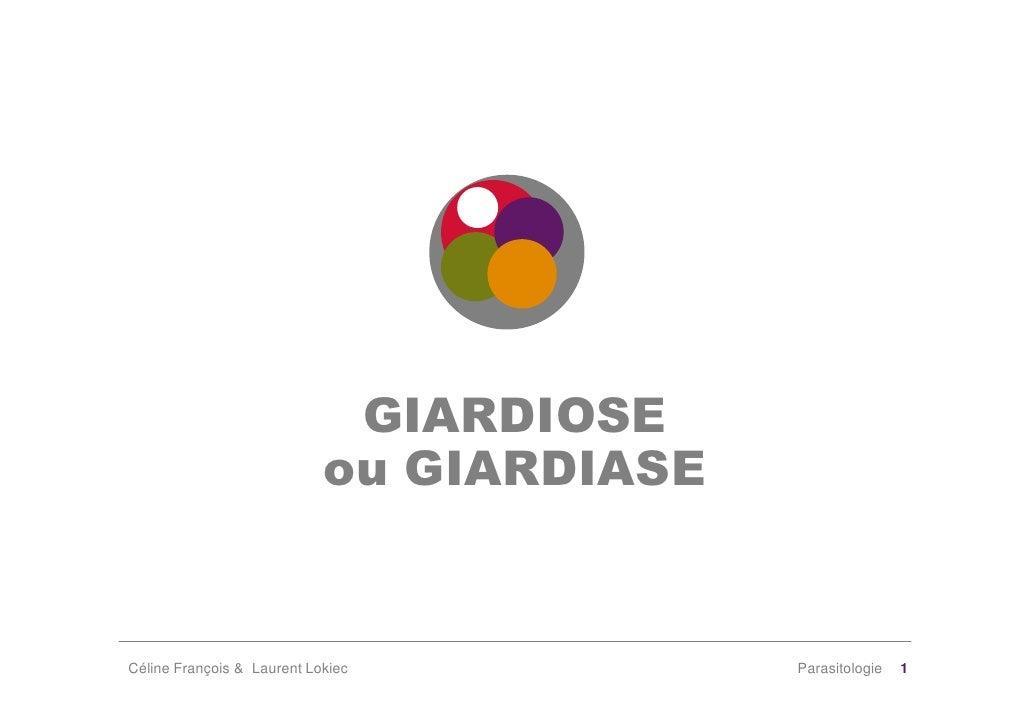 GIARDIOSE                             ou GIARDIASE   Céline François & Laurent Lokiec           Parasitologie   1