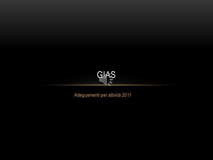 Adeguamenti per attività 2011<br />GIAS<br />