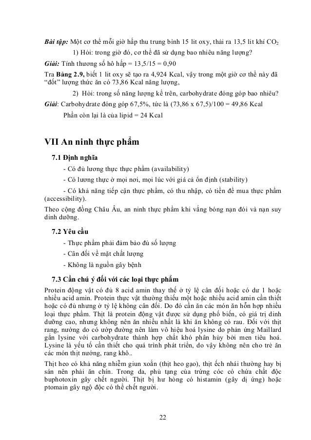 22 Bài tập: Một cơ thể mỗi giờ hấp thu trung bình 15 lit oxy, thải ra 13,5 lit khí CO2 1) Hỏi: trong giờ đó, cơ thể đã sử ...