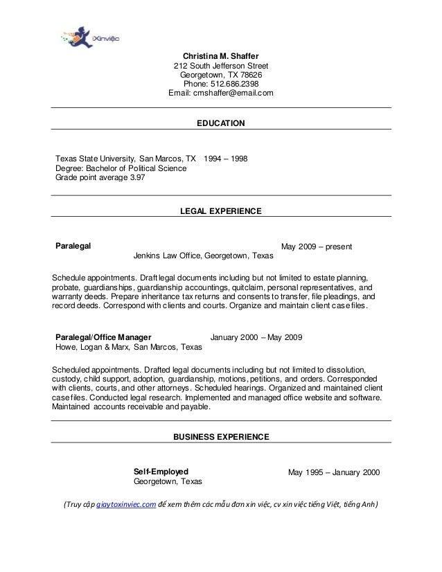 Giaytoxinviec Com Mau Cv Xin Viec Tieng Anh Functional Resume