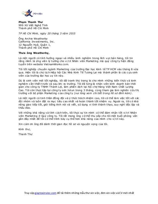 Truy cập giaytoxinviec.com để tải thêm những mẫu thư xin việc, đơn xin việc và CV mới nhất Phạm Thanh Thư 999 Xô Viết Nghệ...