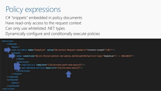 Policy expressions