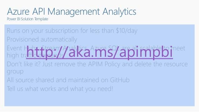 Azure API Management Analytics Power BI Solution Template http://aka.ms/apimpbi