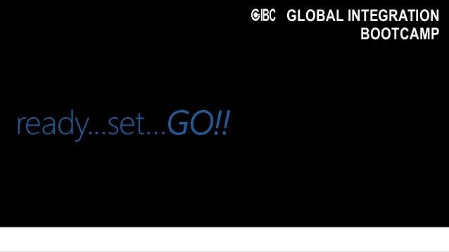 Microsoft Ignite GLOBAL INTEGRATION BOOTCAMP ready...set…GO!!