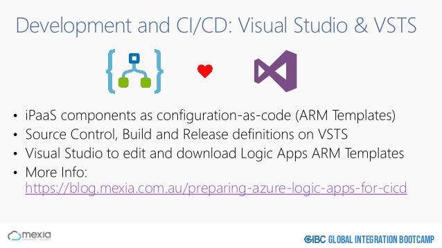 Global Integration Bootcamp Development and CI/CD: Visual Studio & VSTS https://blog.mexia.com.au/preparing-azure-logic-ap...