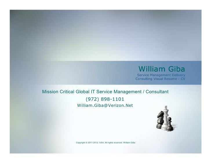 William Giba                                                                                Service Management Delivery   ...