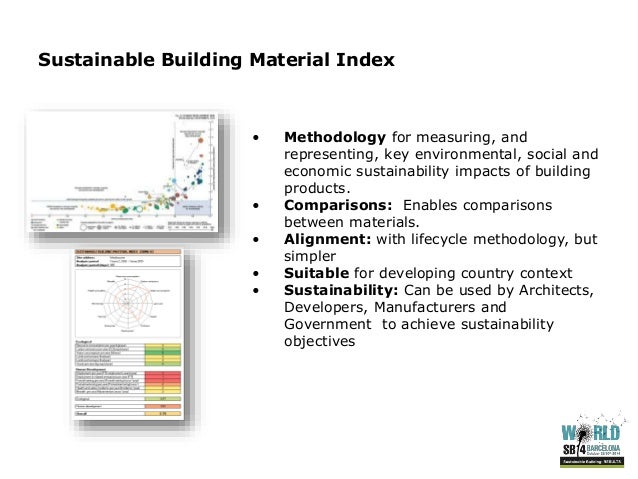 Sustainable Building Products assessing sustainability of building materials in developing countrie…