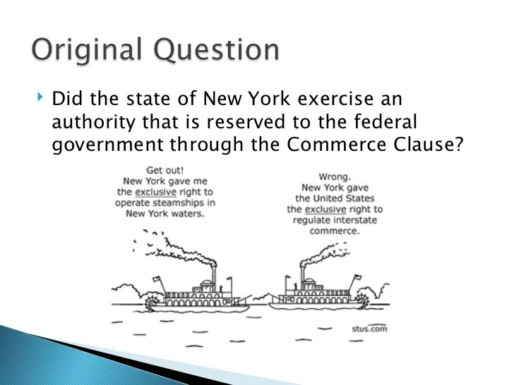 the influence of the supreme court case gibbons vs ogden in the us A case in which the court decided that the federal government has exclusive power over interstate commerce  lii supreme court resources  gibbons v ogden.