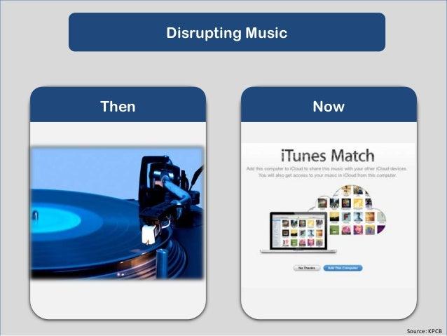 Disrupting Print Media  Then  Now  Source: KPCB