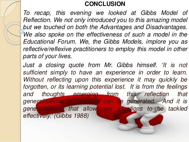 gibbs reflection on midwifery Reflection, practice learning and documentation keywords   the uk nursing and midwifery council,  gibbs' reflective cycle.