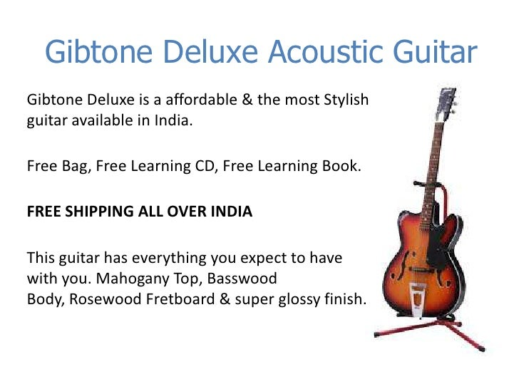 Buy Guitars at Cheapest Price ever, Gibtone deluxe acoustic
