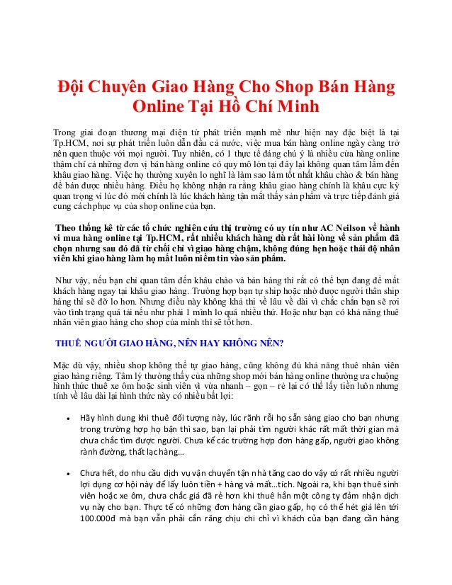 Dịch vụ giaochuyểnhàng hóa nội thành hcmsốlượng ít - Dịch vụ giaohàngtừQuận3 đến Quận5 Đội Chuyên Giao Hàng Cho Shop Bán ...