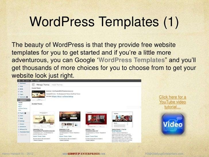 Setting Up A Website Hostgator And Wordpress Giddyup Enterprises - Hostgator website templates