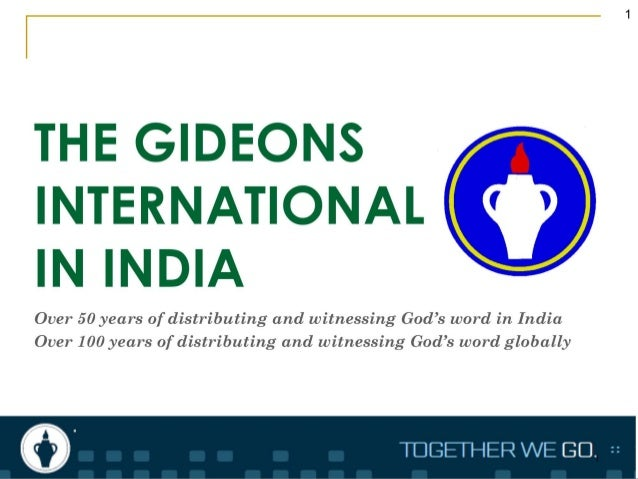 THE GIDEONS INTERNATIONAL IN INDIA