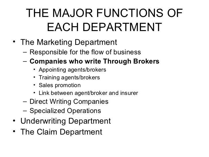 department underwriting