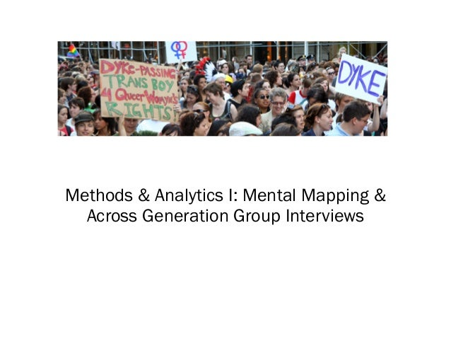 Methods & Analytics I: Mental Mapping & Across Generation Group Interviews