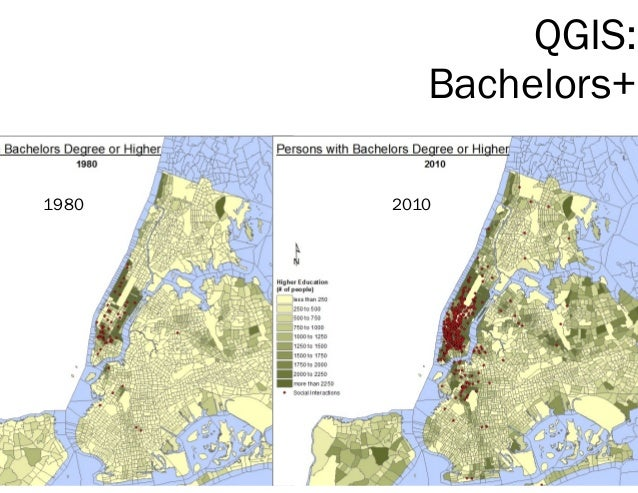 QGIS: Bachelors+ 1980 2010