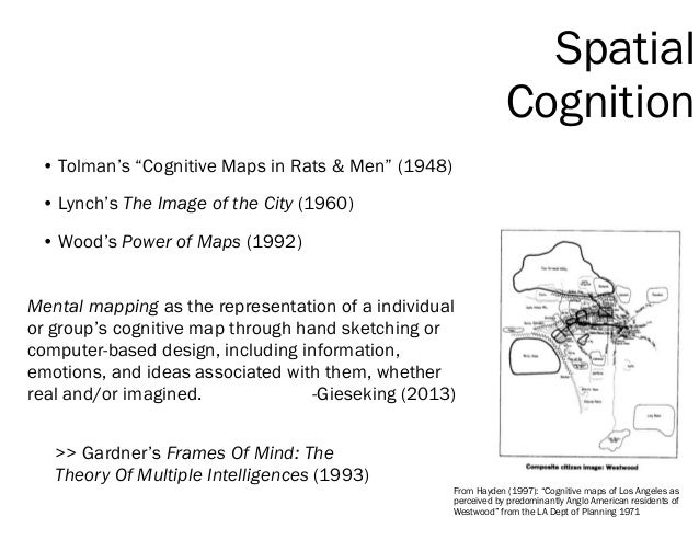 """>> Gardner's Frames Of Mind: The Theory Of Multiple Intelligences (1993) From Hayden (1997): """"Cognitive maps of Los Angele..."""