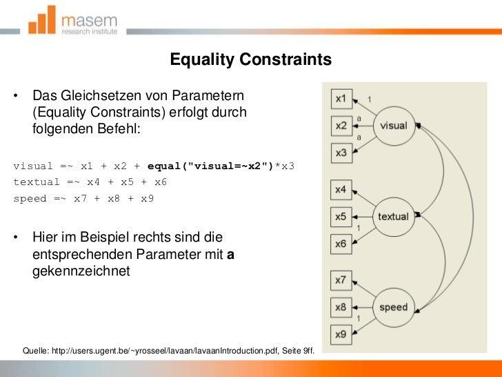 EqualityConstraints<br />Das Gleichsetzen von Parametern (EqualityConstraints) erfolgt durch folgenden Befehl:<br />visual...