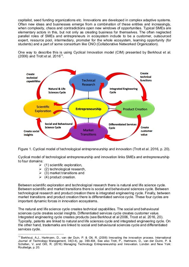 capitalist, seed funding organizations etc. Innovations are developed in complex adaptive systems. Often new ideas and bus...