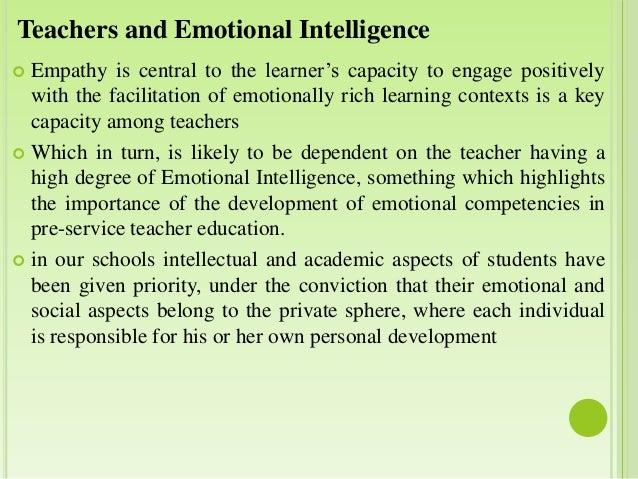 implication of emotional intelligence to students Evaluation of emotional intelligence and its relation to the academic achievement in medical students shokofeh radfar 1, mahdi aghaie 2, mahdi motashaker-arani 3, sima noohi 4, amin saburi 5,.
