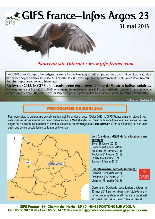 GIFS France—Infos Argos 2331 mai 2013Le GIFS France (Groupe d'Investigations sur la Faune Sauvage) a initié un programme d...