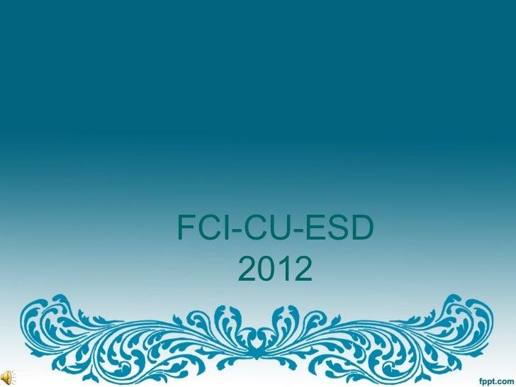 FCI-CU-ESD    2012