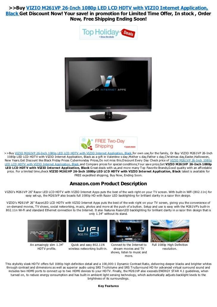 gift for dad vizio m261vp 26 inch 1080p led lcd hdtv with vizio inter rh slideshare net Vizio E321VL Vizio E3D420VX