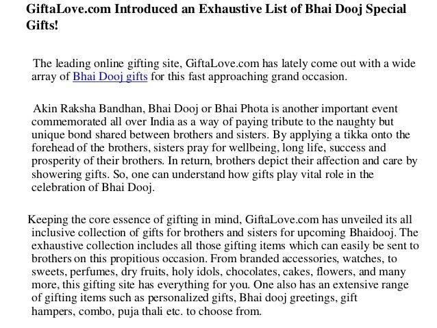 GiftaLove.com Introduced an Exhaustive List of Bhai Dooj Special Gifts! The leading online gifting site, GiftaLove.com has...