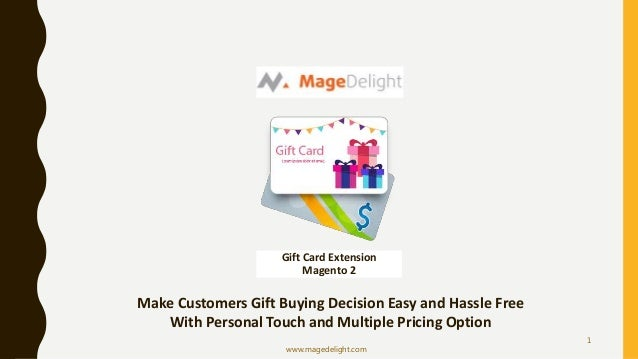 Gift Card Extension Magento 2 Make Customers Gift Buying Decision Easy and Hassle Free With Personal ...