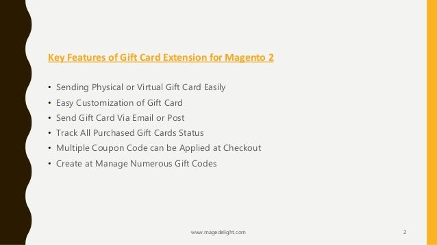 gift card magento 2 extension send giftcard via email or post as we. Black Bedroom Furniture Sets. Home Design Ideas