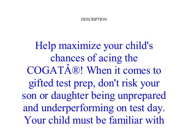 Free Epub Gifted And Talented Cogat Test Prep Grade 2 Gifted Test Pr
