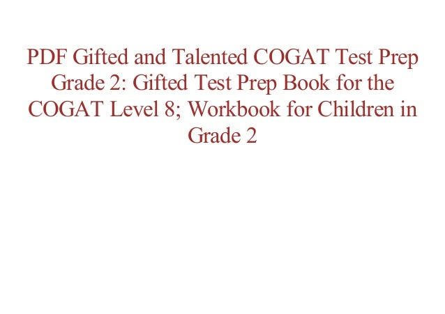Free Epub Gifted And Talented Cogat Test Prep Grade 2 Gifted Test