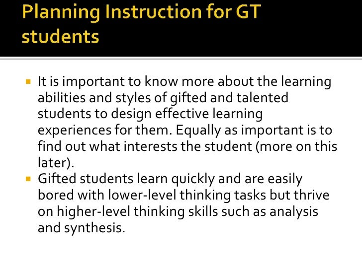 Gifted And Talented Gt