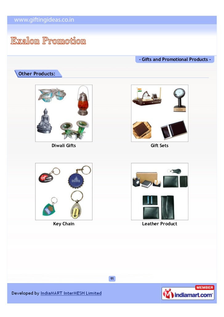 - Gifts and Promotional Products -Other Products:             Diwali Gifts        Gift Sets              Key Chain      Le...