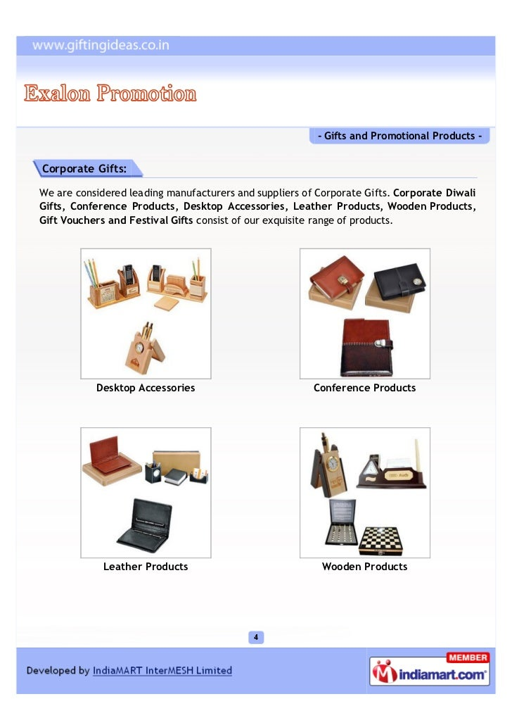 - Gifts and Promotional Products -Corporate Gifts:We are considered leading manufacturers and suppliers of Corporate Gifts...