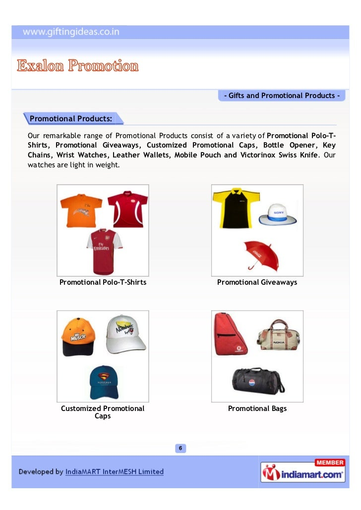 - Gifts and Promotional Products -Promotional Products:Our remarkable range of Promotional Products consist of a variety o...