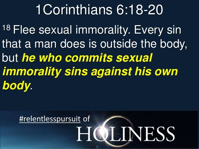 What Does It Mean To Be Sexually Immoral