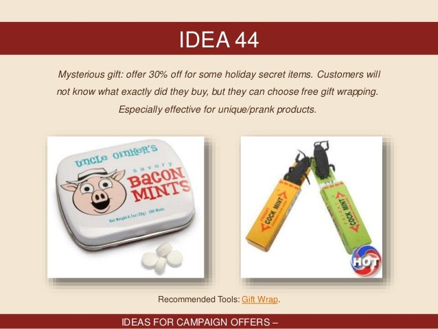 86 Promotional ideas for holiday campaigns