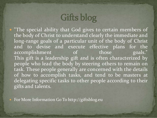 """ """"The special ability that God gives to certain members of the body of Christ to understand clearly the immediate and lon..."""