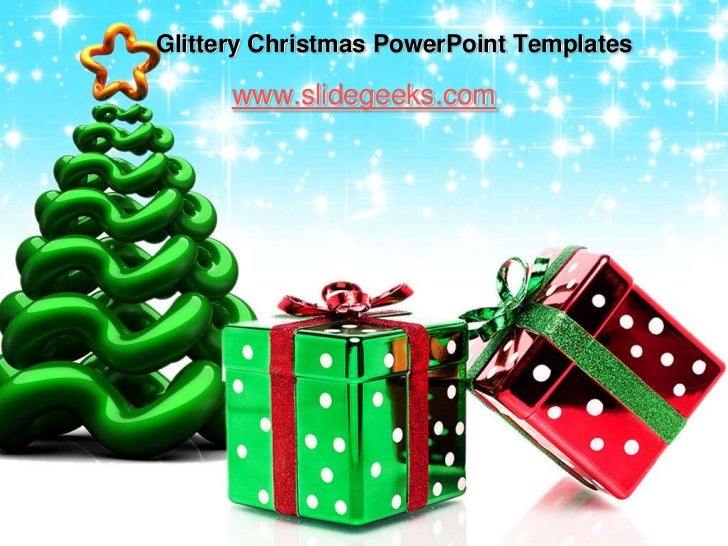 Glittery Christmas Powerpoint Templates