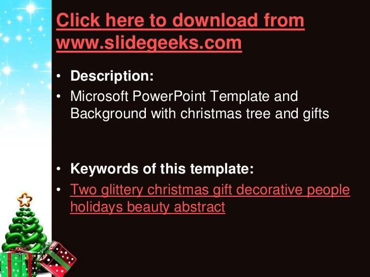 Glittery Christmas Powerpoint Templates