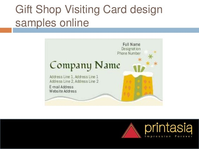Gift Shop Business Visiting Card Printasia