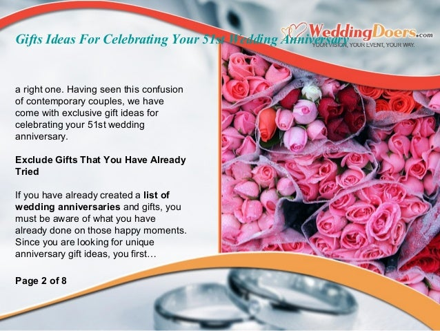 Gifts ideas for celebrating your st wedding anniversary