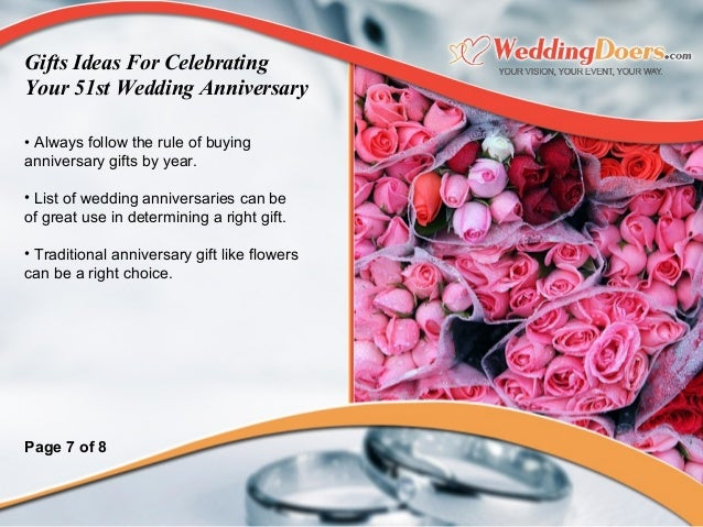 Wedding Gifts By Years: Gifts Ideas For Celebrating Your 51st Wedding Anniversary